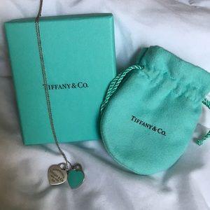 Tiffany's double small heart necklace
